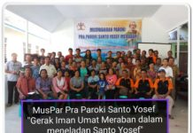 Peserta Musyawarah Pra - Paroki Santo Yosep Meraban